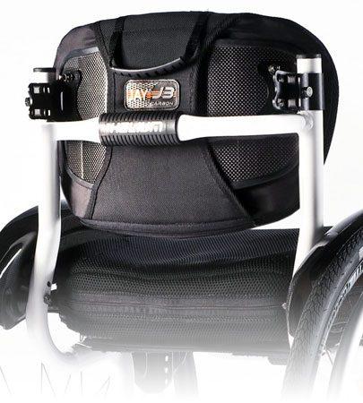 respaldo para silla de ruedas j3 carbón back de ortored